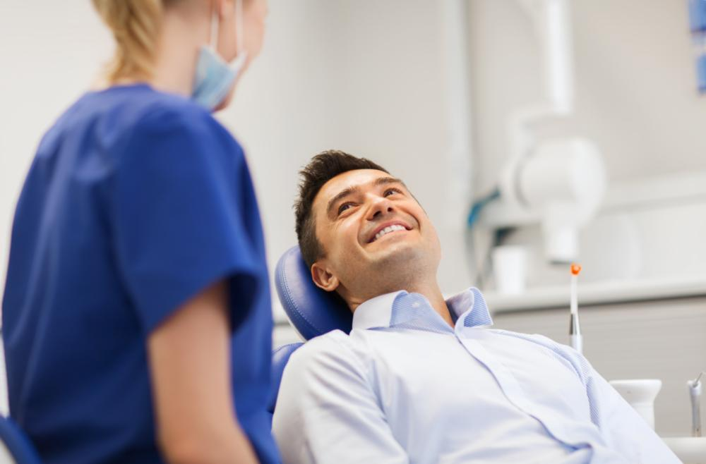 Man at dentist | dental pain fairfield nsw